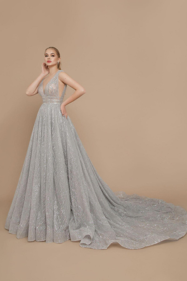 20-V-006 Silver in Evening Couture 2020